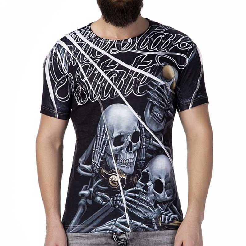 CIPO and BAXX T-SHIRT Regular Fit LONE STAR Party CT238 Skull black
