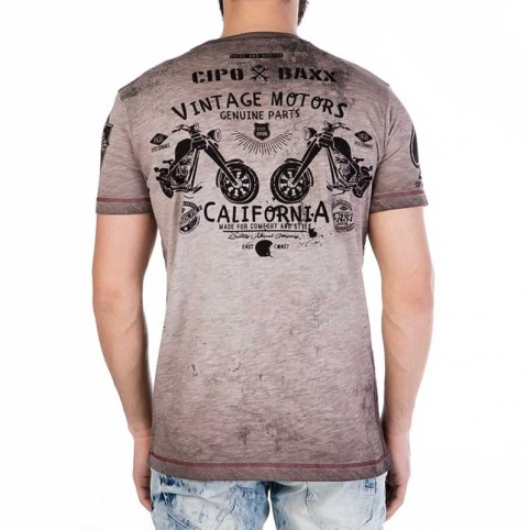 CIPO and BAXX T-SHIRT CT261 vintage oil wash
