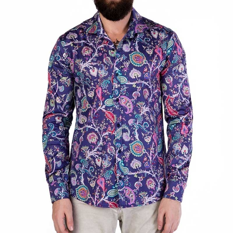 CIPO and BAXX DRESS SHIRT CH118 retro paisley print