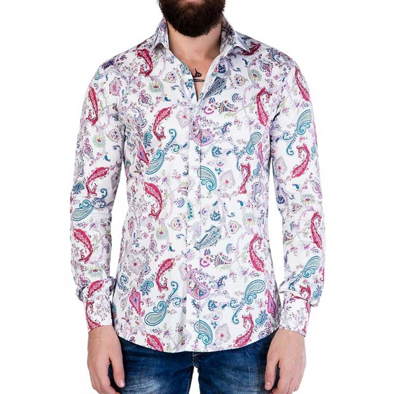 CIPO and BAXX HEMD CH118 Retro Paisley Muster