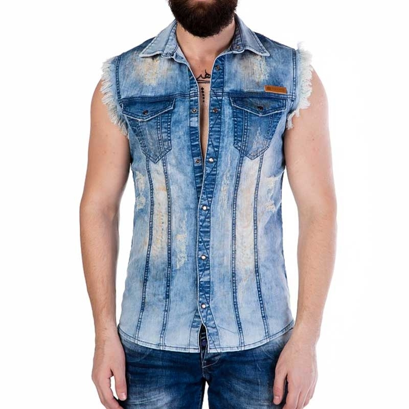 CIPO and BAXX VEST CH116 used look denim