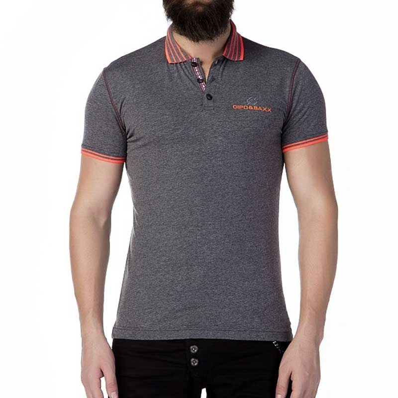 CIPO and BAXX POLO-SHIRT Regular Fit ADRIAN Club CT189 Style anthracite