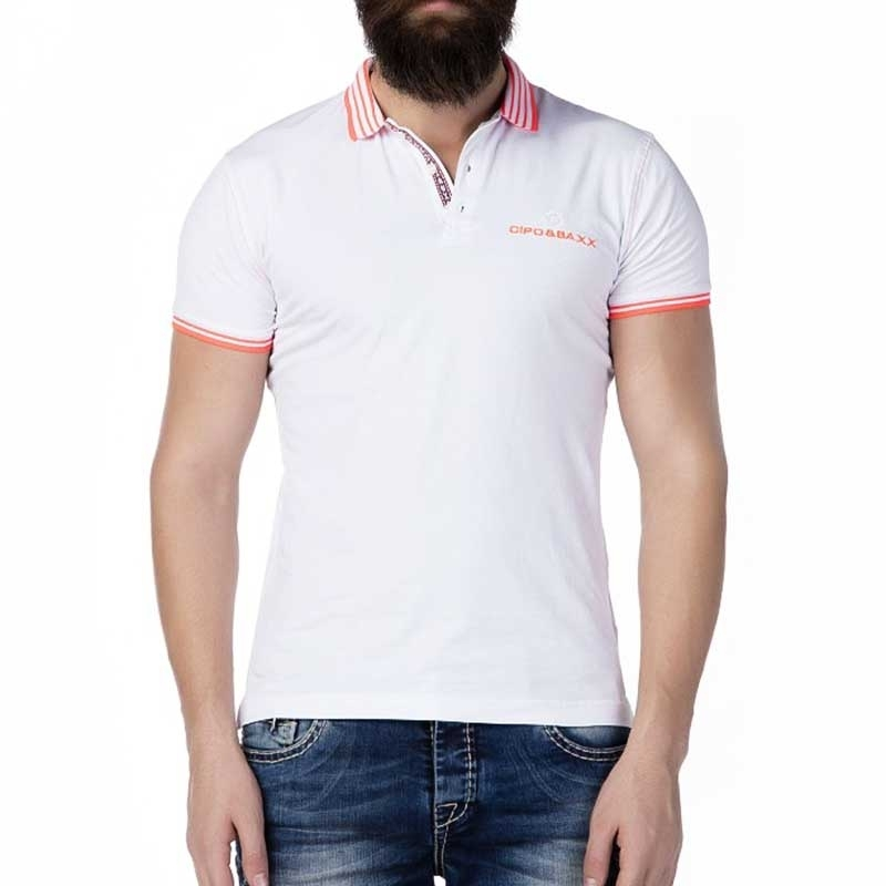 CIPO and BAXX POLO-SHIRT Regular Fit ADRIAN Club CT189 Style white