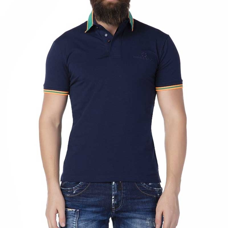 CIPO and BAXX POLO-SHIRT CT191 with colorful stripes