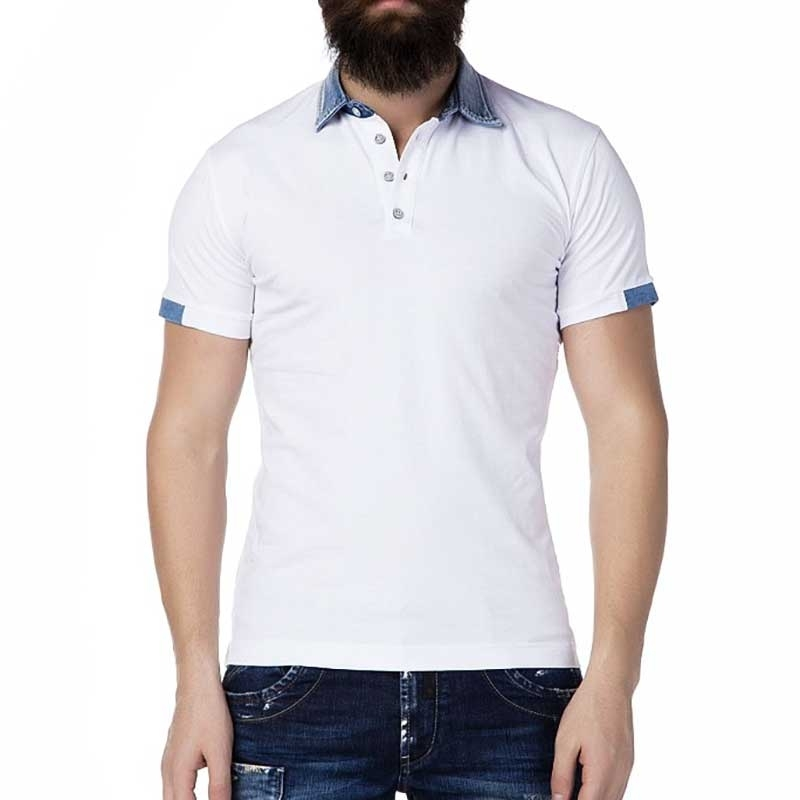 CIPO and BAXX POLO-SHIRT Regular Fit HOLIDAY All Day CT222 Style white