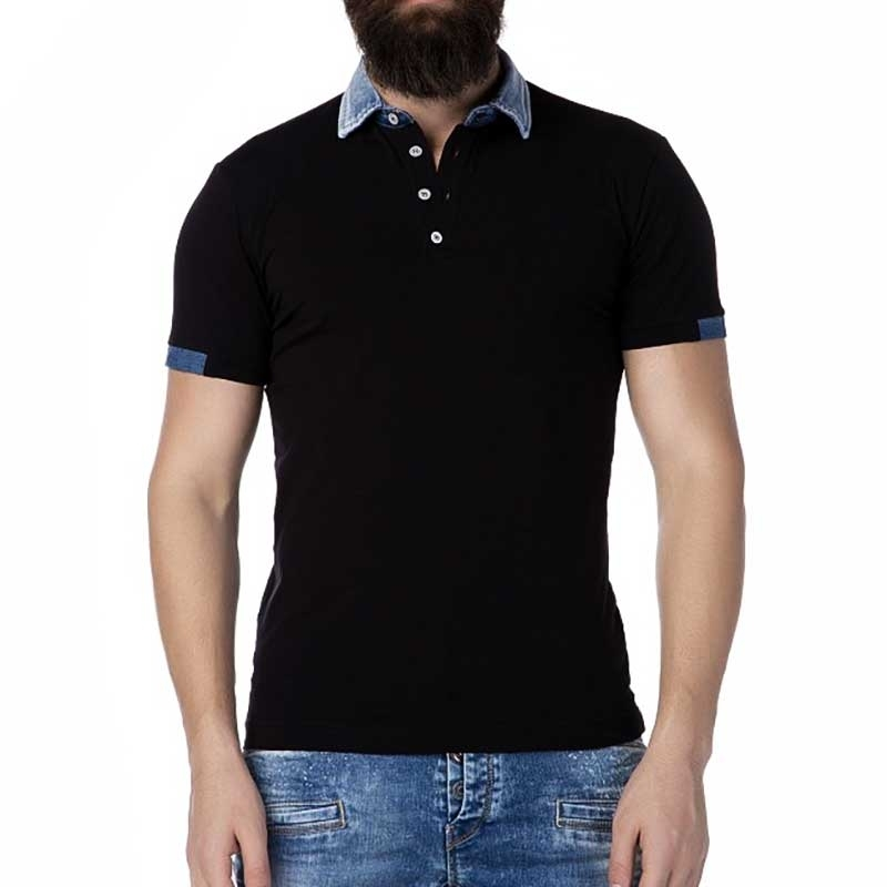 CIPO and BAXX POLO-SHIRT CT222 Denim Highlights