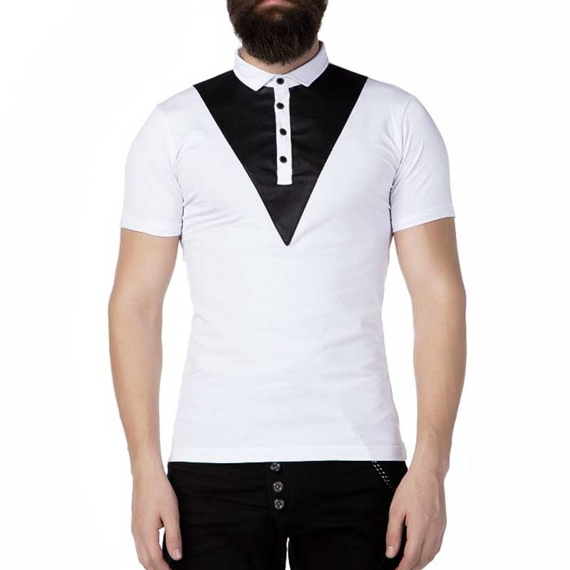 CIPO and BAXX POLO-SHIRT Regular Fit TEXIDO Mode CT239 Style white