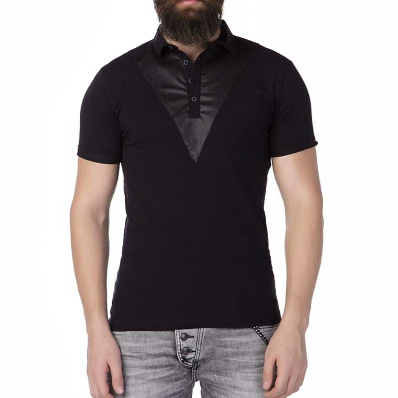 CIPO and BAXX POLO-SHIRT Regular Fit TEXIDO Mode CT239 Style black