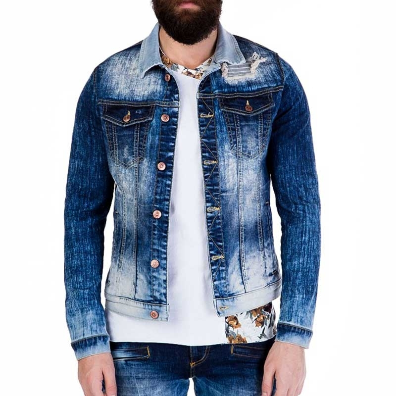 CIPO and BAXX JEAN JACKET CJ119 fade wash denim