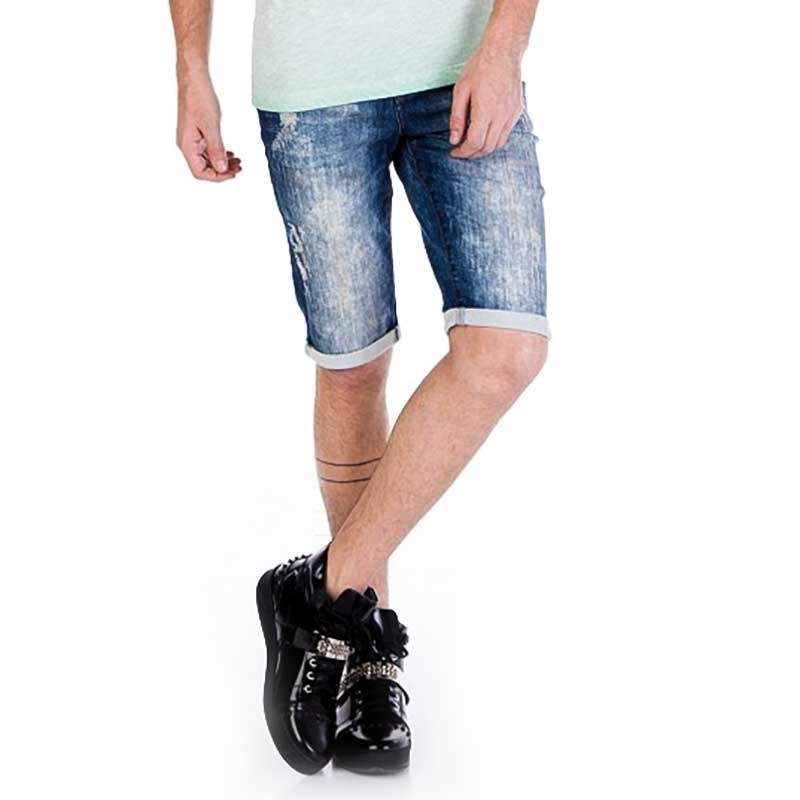 CIPO and BAXX SHORTS CAPRI- JEANS CK121 gebleichter Look