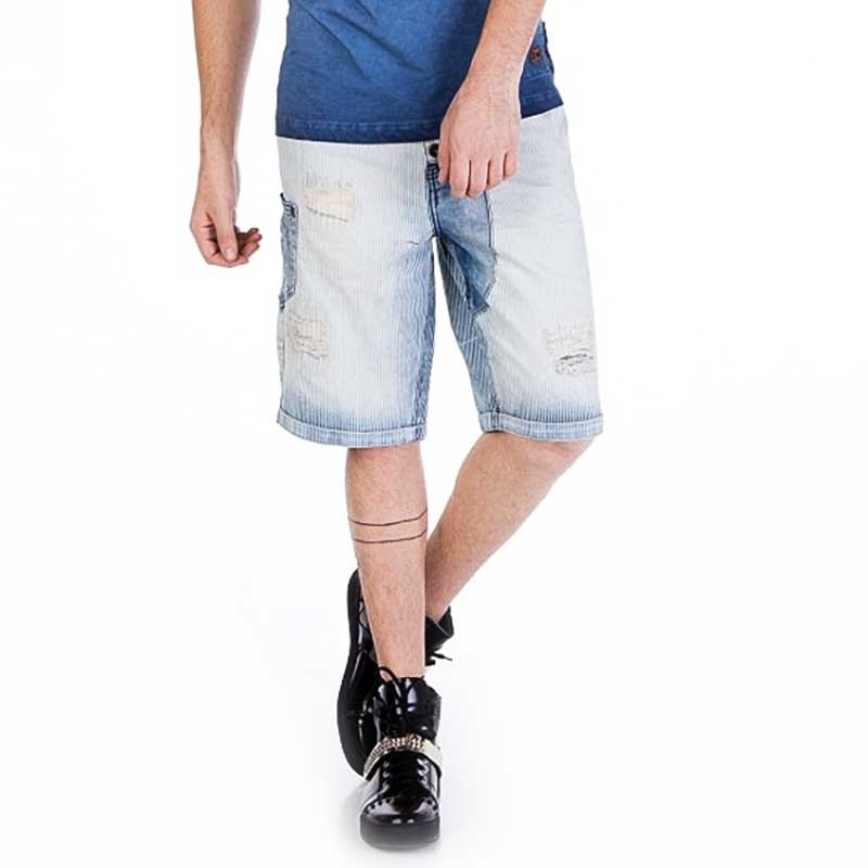 CIPO and BAXX SHORTS CAPRI- JEANS CK126 geripptes Denim