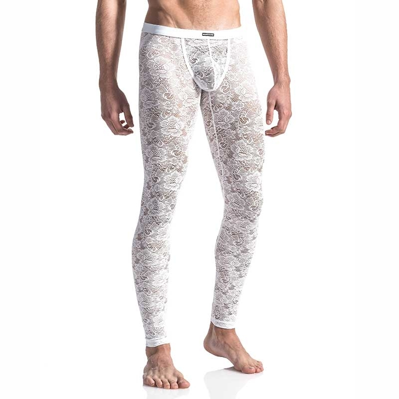 MANSTORE PANTS Hot LACE LEGGINGS Style M566 Blumen white