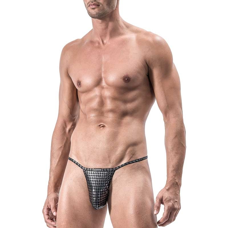 MANSTORE STRING Hot KINKY SLIM Chain M554 Houndstooth black