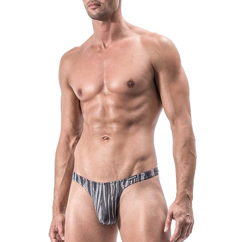 MANSTORE STRING Hot TIGER Sexy M558 gestreift grey