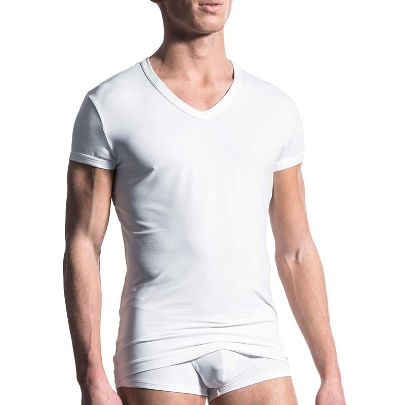 MANSTORE T-SHIRT Regular ALL DAY Athletik M200 Stretch white