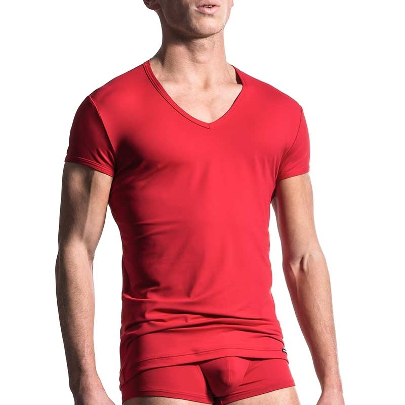 MANSTORE T-SHIRT Regular ALL DAY Athletik M200 Stretch red