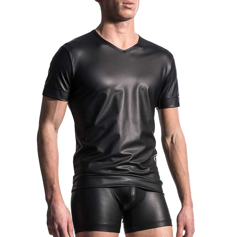 MANSTORE T-SHIRT Hot LEDER SPORT Club M510 Party black