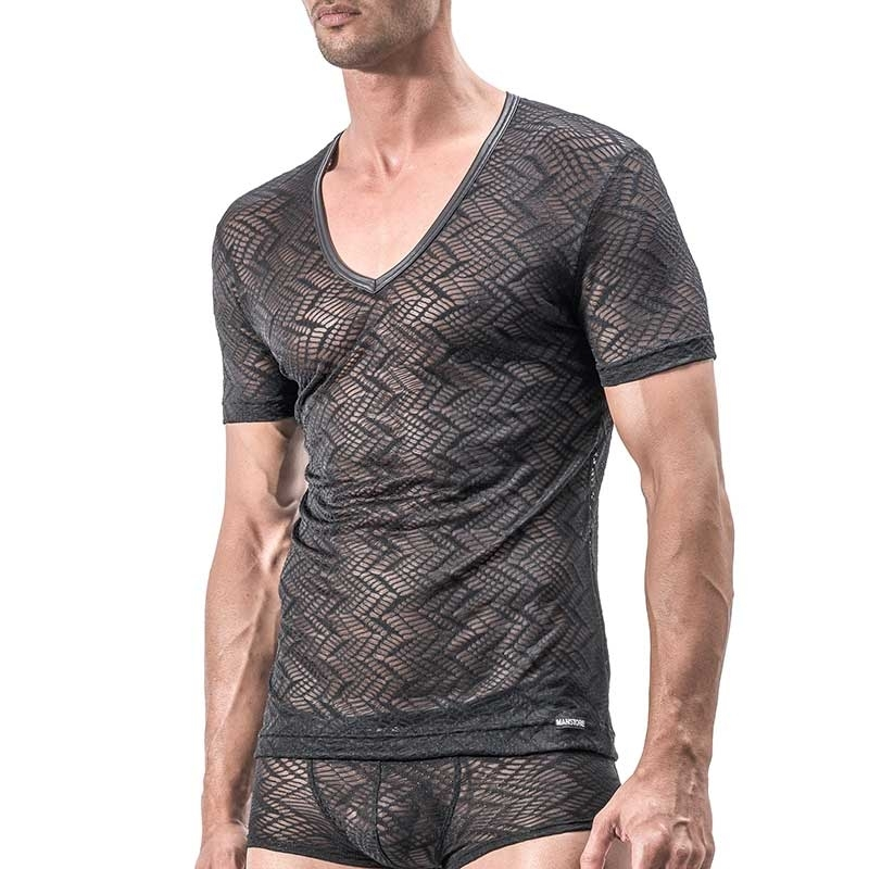 MANSTORE T-SHIRT Hot INDIAN Basic M552 Mesh black