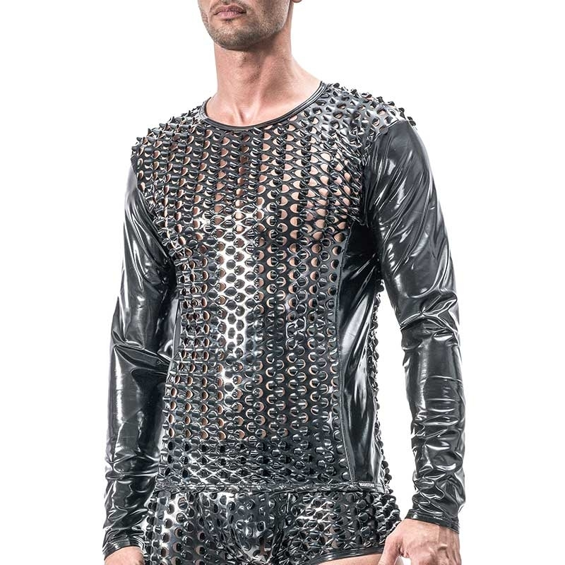 MANSTORE T-SHIRT Hot REPTILE Wet Look M553 Fetish black