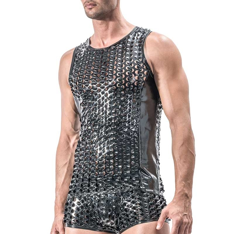MANSTORE pvc TANK Top Hot REPTILE Wet Look M553 Fetisch black