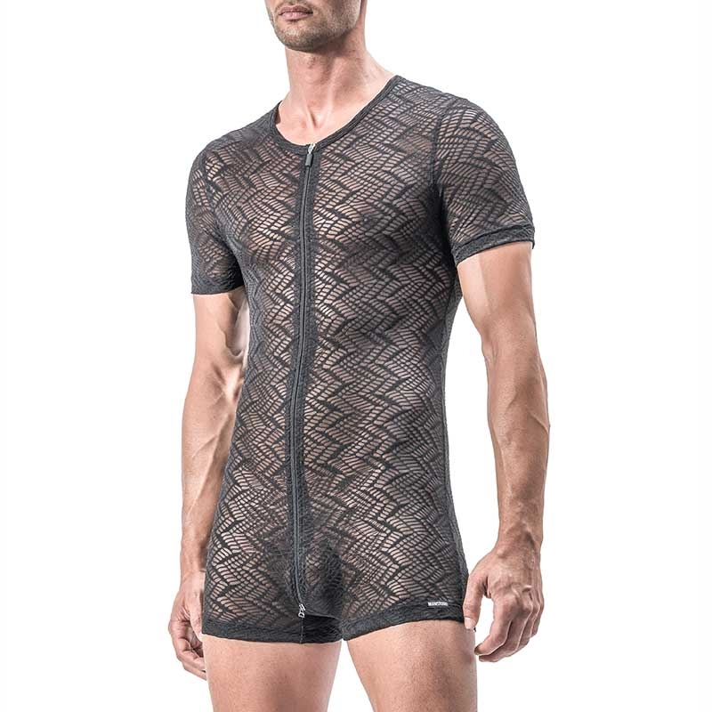 MANSTORE BODY Hot INDIAN Zip M552 Mesh black