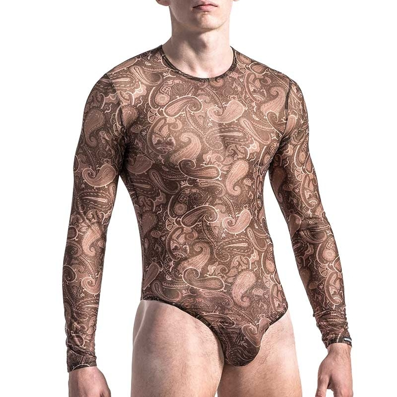MANSTORE BODY Hot LANGARM TATTOO Paisley M565 Party black