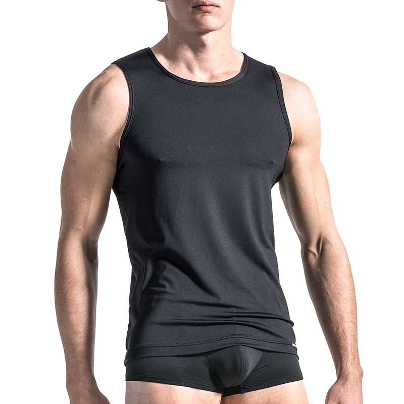 MANSTORE TANK Top Regular CLASSIC LOOK Basic M103 Sport black
