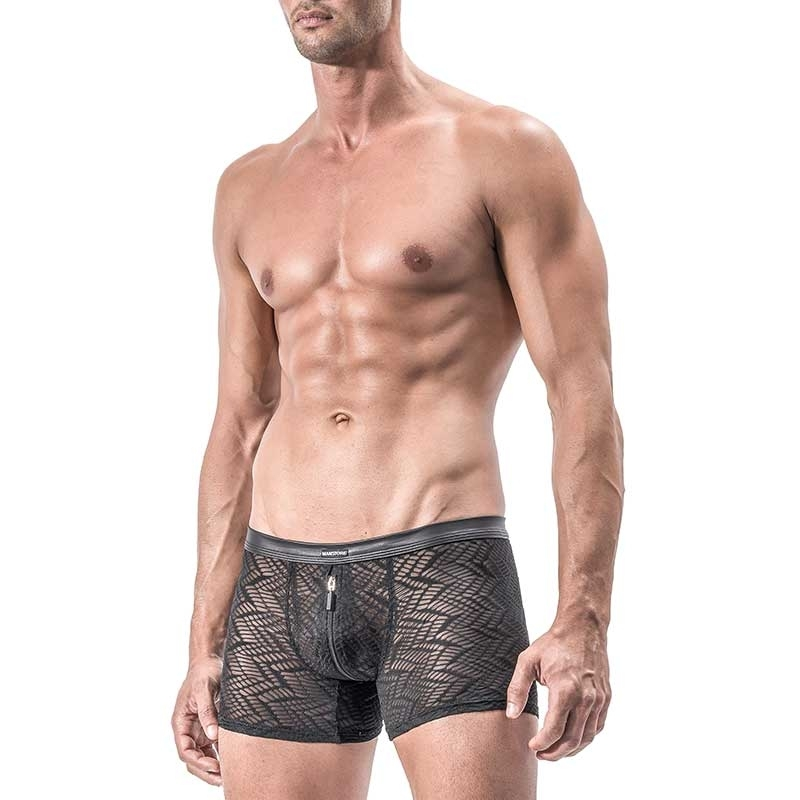 MANSTORE PANTS Regular INDIAN ZIP Mesh M552 Sexy black