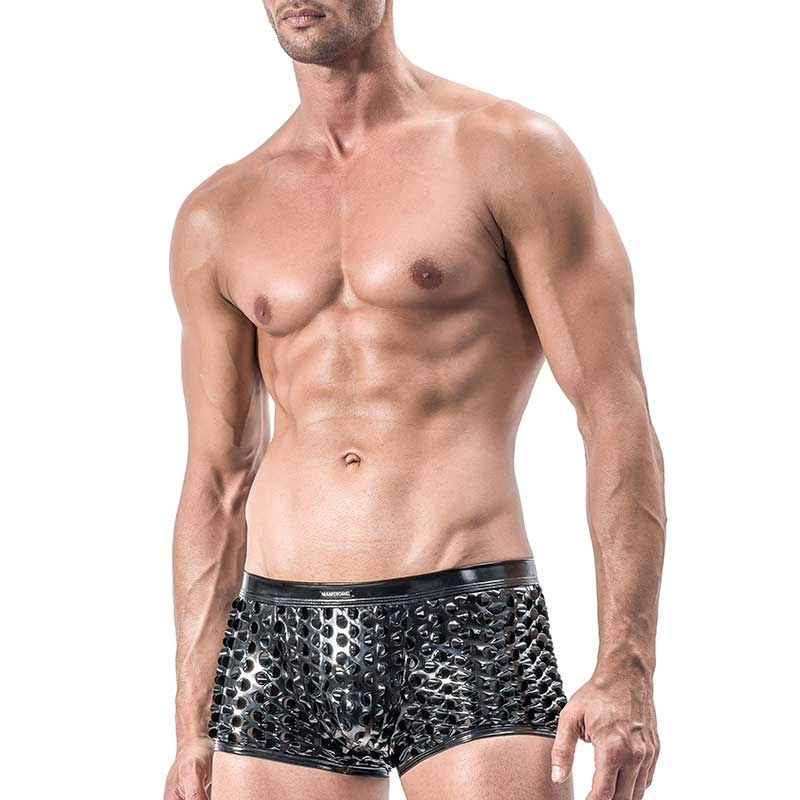 MANSTORE PANTS Hot REPTILE Wet Look M553 Fetisch black