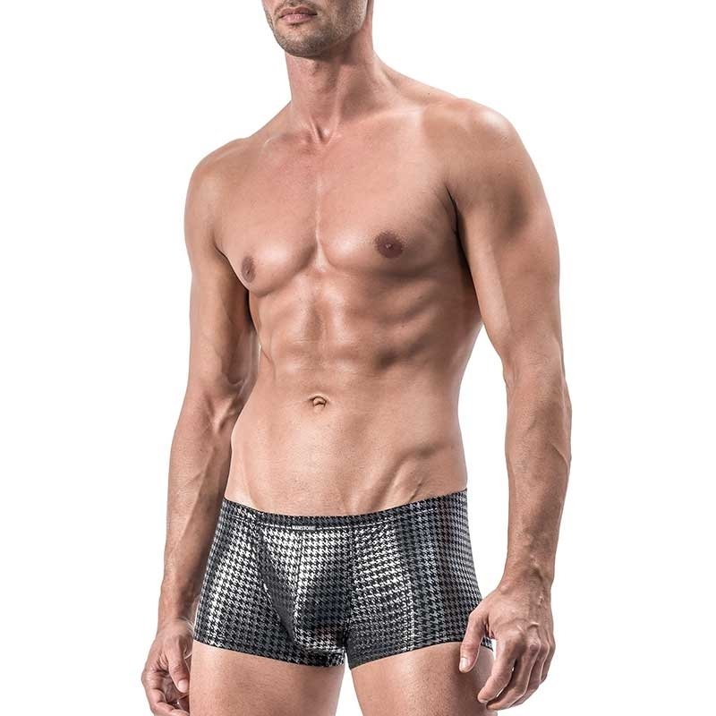 MANSTORE PANTS Hot SILVER CLUB Houndstooth M554 Party black