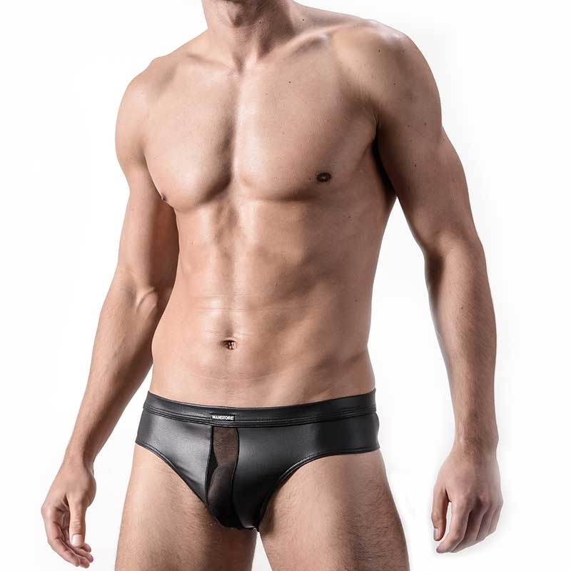 MANSTORE SLIP Hot WET BRIEF Fetisch M324 Mesh black