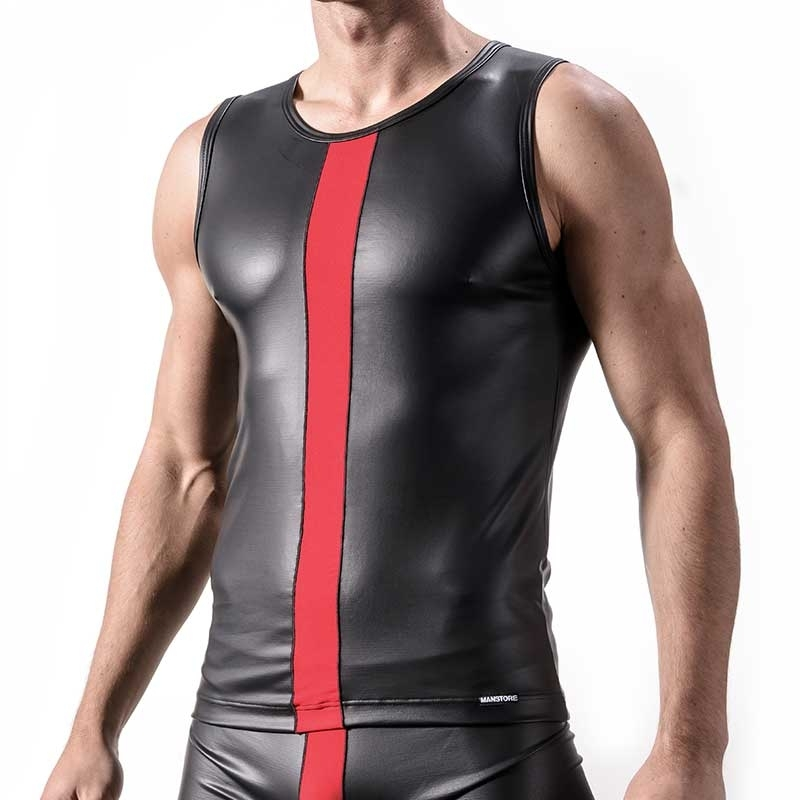 MANSTORE TANK Top Hot WET TANK Fetisch M324 Party red