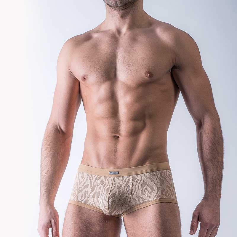 MANSTORE PANTS modern NAKED HAUT Mode M511 Tiger Look beige