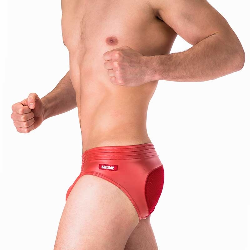 BARCODE Berlin BRIEF push-up Wetlook TITO Mesh 91249 Spank red