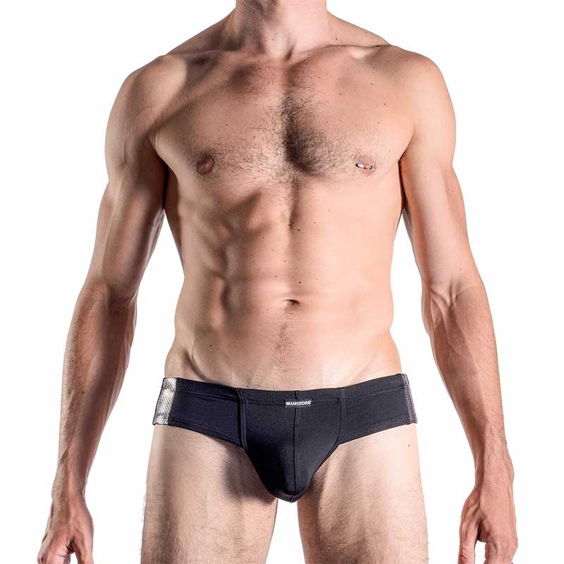 MANSTORE SLIP modern Hot GLITTER Party M286 Disko Nacht black