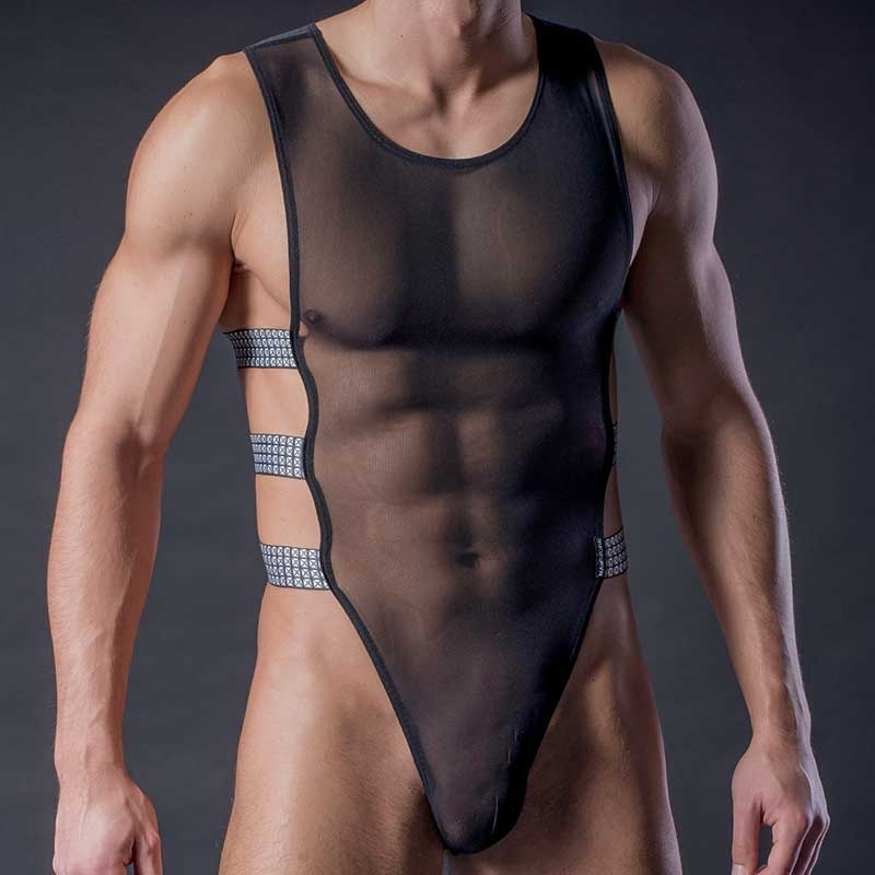 MANSTORE BODY hot TURTLE STRING Mesh M305 Kampfsport black