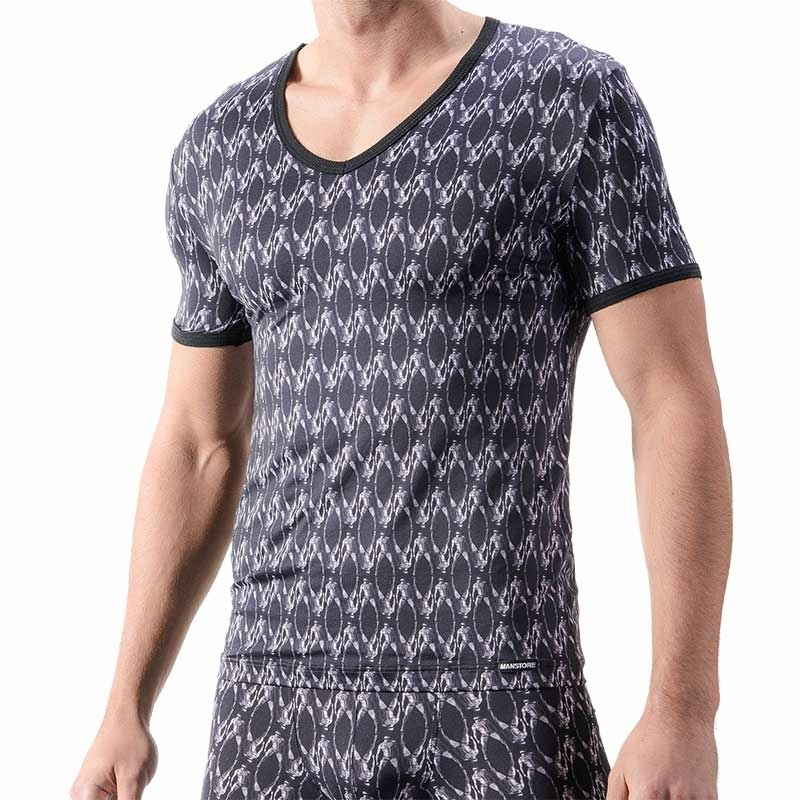 MANSTORE T-SHIRT regular SPORTLER PRINT Design M325 Mainstream navy