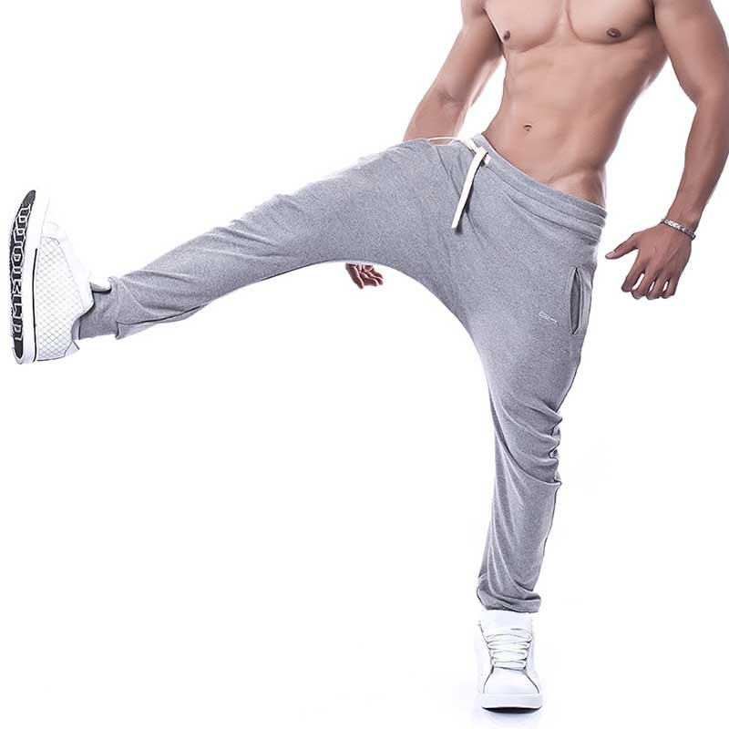 GABRIEL HOMME SWEATPANTS comfort BEAU Drop-Crotch GH-3-7009 Sport Hall light grey