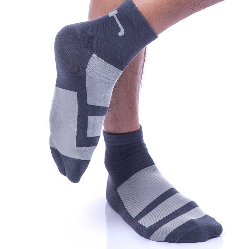 GABRIEL HOMME KURZ STRUMPF regular SPORT TIME Aktiv GH-5001 Gym Socken navy-grey