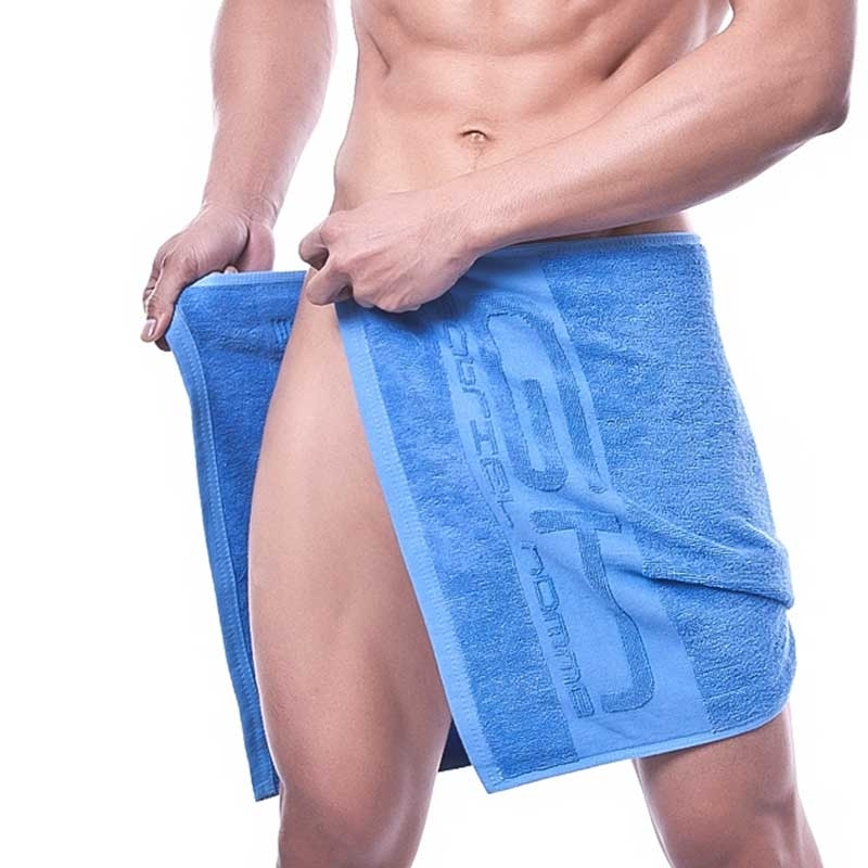 GABRIEL HOMME SPORTS TOWEL regular FITNESS Active GH-4001 Gym Time blue