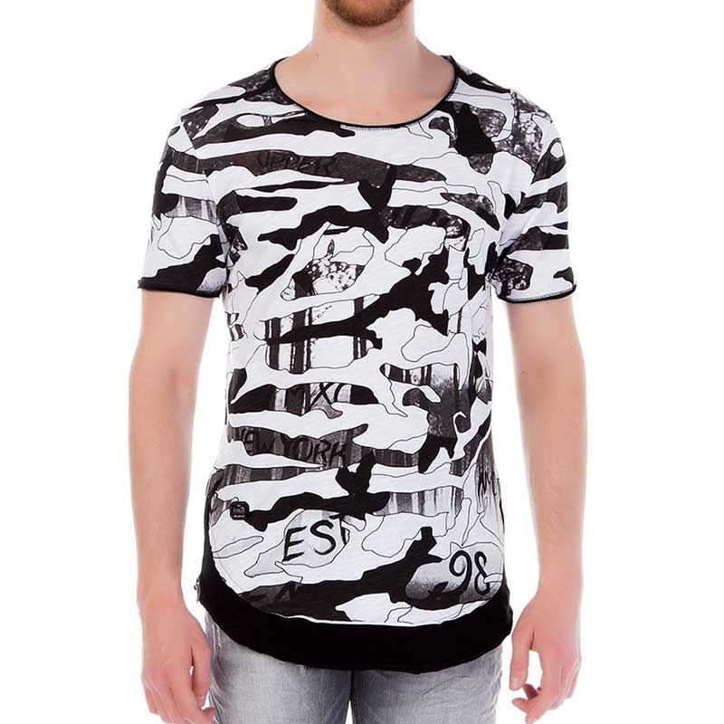 RED BRIDGE T-SHIRT comfort CARTOON 98 Bedruckt M1102 Dunkel Wald white-black
