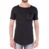 RED BRIDGE T-SHIRT regular METALL JAMES Kunstleder M1099 Clubwear black