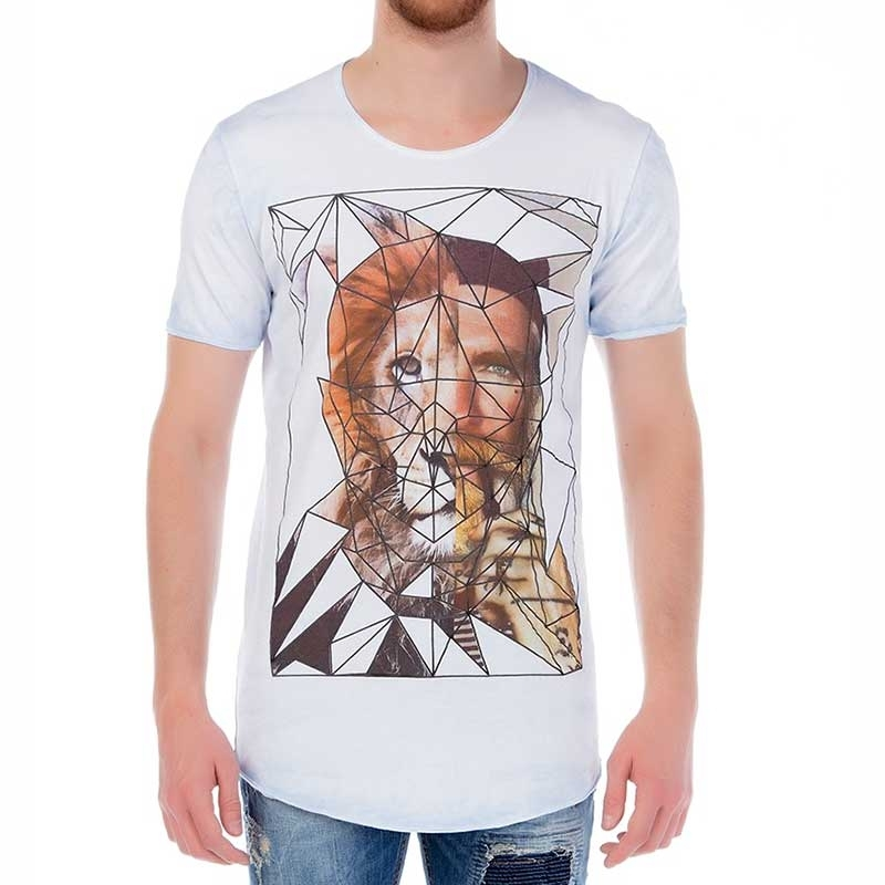RED BRIDGE T-SHIRT regular GEOMETRISCH SPHINX Style M1098 Kirchenfensterglas white-indigo