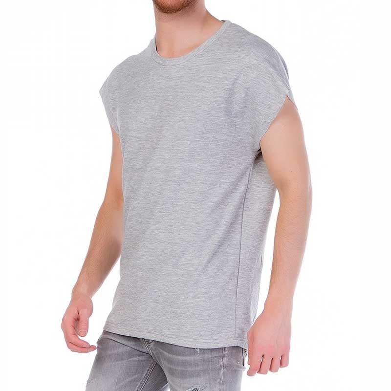 RED BRIDGE T-SHIRT modern SLEEVELESS MANN Basic Tunika M1086 Wald grey melange