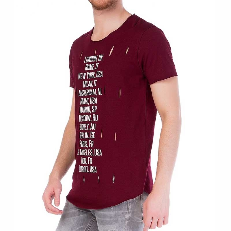 RED BRIDGE T-SHIRT modern Wein WELTREISE Staedte M1075 Urlaub Spass bordeaux