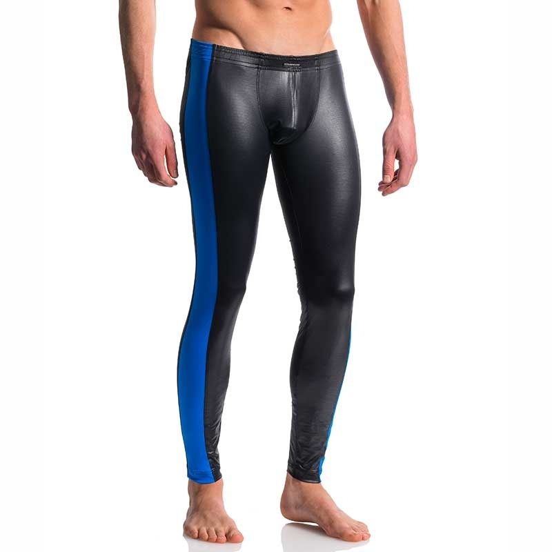 MANSTORE PANTS Hot KONTRAST LEGGINGS Wassersports Wetlook M604 Clubwear black-royal