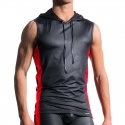 MANSTORE TANK Top Hot KONTRAST TANK Wetlook M604 Clubwear black-red