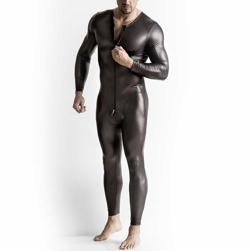 MANSTORE BODY Hot FULL BODY LEDER Langarm M510 Zip black