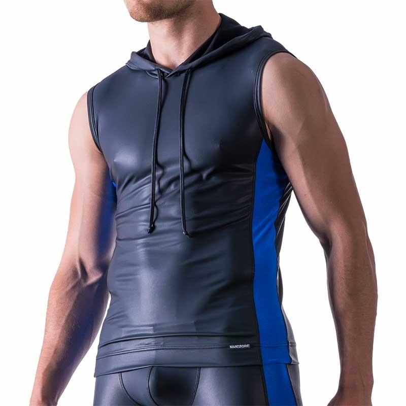 MANSTORE TANK Top Hot LIMITED EDITION LEDER SPORT Hoody M521 Club blue