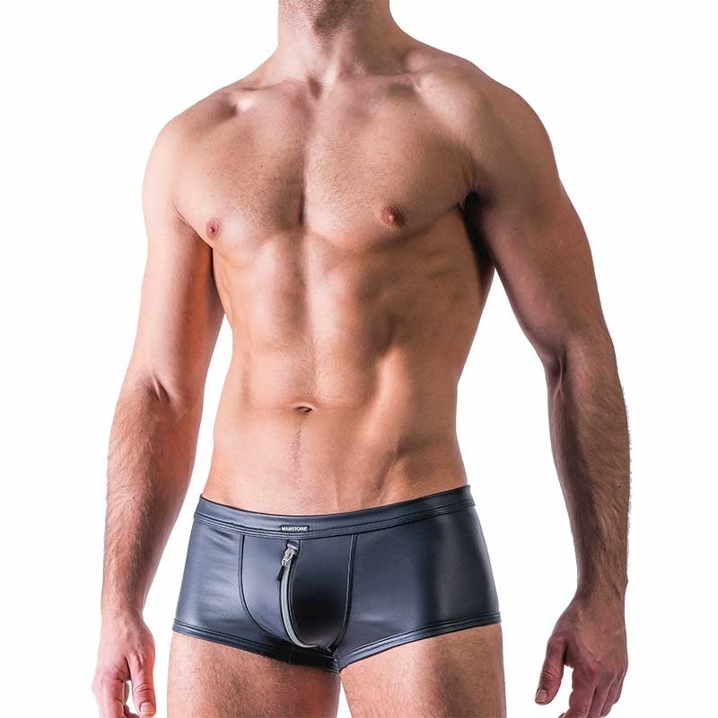 MANSTORE wet PANTS Hot Zipper Club M515 Fetisch black